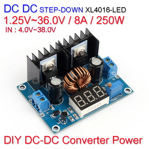 [Z-3] [DC-DC 컨버터] DC DC Step Down Converter Power XL4016-LED 1.25V~36.0V / 8A / 250W
