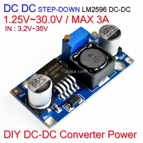 [Z-2] [DC-DC 컨버터] DC DC Step Down Converter Power LM2596 1.25V~30.0V / 3A