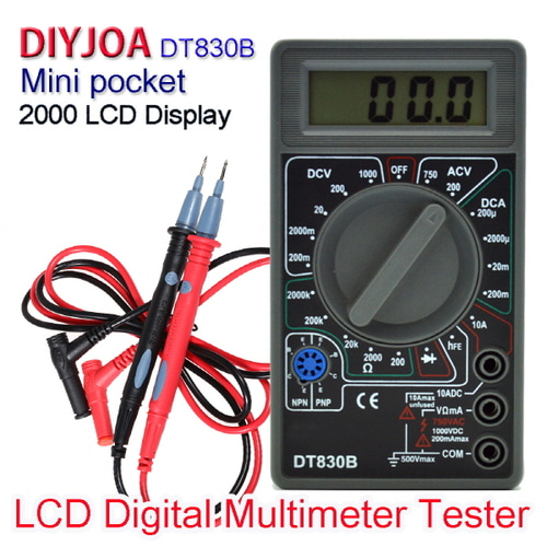 [2000 Display] DIYJOA DT-830B LCD Digital Multimeter ( LCD 디지털 멀티 테스터기)